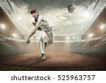 baseball players in action on... | Shutterstock . vector #525963757