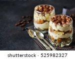 classic tiramisu in a glass jar ...   Shutterstock . vector #525982327
