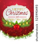 merry christmas and happy new... | Shutterstock .eps vector #525990493