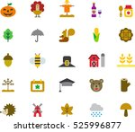 set of autumn color flat icons | Shutterstock .eps vector #525996877