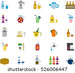 set of drinks   beverages color ... | Shutterstock .eps vector #526006447