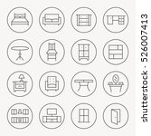 furniture thin line icon set | Shutterstock .eps vector #526007413