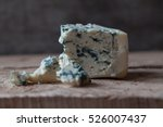slices of danish blue cheese on ...