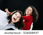 two young women feeling happy... | Shutterstock . vector #526008937