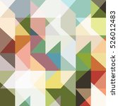 modern seamless colored pattern ... | Shutterstock .eps vector #526012483