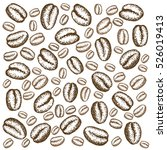 painted coffee beans  sketch ... | Shutterstock .eps vector #526019413