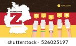 generation z in germany vector... | Shutterstock .eps vector #526025197