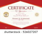 certificate retro design... | Shutterstock .eps vector #526027207