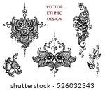 vector set of abstract tattoo... | Shutterstock .eps vector #526032343