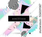 geometric background template... | Shutterstock .eps vector #526039387