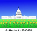 us capitol building washington... | Shutterstock .eps vector #5260420