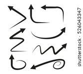 vector illustration of curved... | Shutterstock .eps vector #526043347