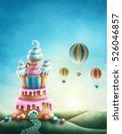 illustration of fantasy sweet... | Shutterstock . vector #526046857