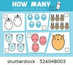 counting game for preschool... | Shutterstock .eps vector #526048003