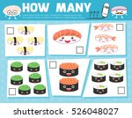 counting game for preschool... | Shutterstock .eps vector #526048027