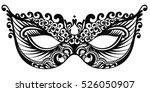 beautiful mask of lace. mardi... | Shutterstock .eps vector #526050907