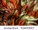 rooster feathers. carnival. | Shutterstock . vector #526053067