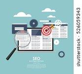 seo search engine optimazation... | Shutterstock .eps vector #526059343