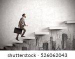 side view of a man climbing the ... | Shutterstock . vector #526062043