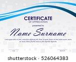 certificate of appreciation... | Shutterstock .eps vector #526064383