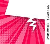 Blank pink comic text balloon template. Clear empty speech bubbles halftone dot style pop art. Dialog empty cloud pop art. Creative idea conversation background sketch explosion | Shutterstock vector #526067137