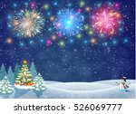 Christmas Landscape At Night....