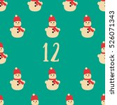 christmas advent calendar set.... | Shutterstock .eps vector #526071343