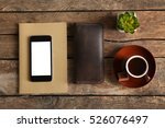 leather wallet and other man... | Shutterstock . vector #526076497