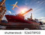 logistics and transportation of ... | Shutterstock . vector #526078933