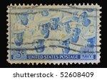 usa   circa 1955  a stamp... | Shutterstock . vector #52608409