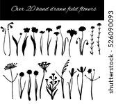 set of hand drawing wild... | Shutterstock .eps vector #526090093