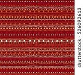 tribal ethnic ornament seamless ... | Shutterstock .eps vector #526092613