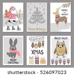 merry christmas greeting card... | Shutterstock .eps vector #526097023