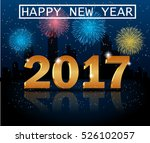 happy new year 2017 greeting...   Shutterstock . vector #526102057