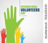 volunteer day vector... | Shutterstock .eps vector #526103143
