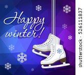 pair of white ice skates.... | Shutterstock .eps vector #526111837