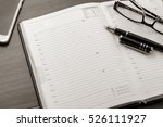 business accessories on desktop ... | Shutterstock . vector #526111927