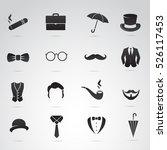 retro gentleman icon set on...   Shutterstock .eps vector #526117453