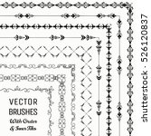 collection of vector pattern... | Shutterstock .eps vector #526120837