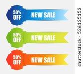 web sale banner | Shutterstock .eps vector #526135153
