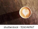 cup of coffee to go on the... | Shutterstock . vector #526146967