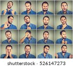 collage of a young man... | Shutterstock . vector #526147273