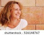 portrait of beautiful 40 years... | Shutterstock . vector #526148767