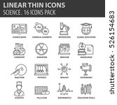 set of thin line flat icons.... | Shutterstock .eps vector #526154683