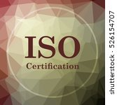 iso certification icon. iso... | Shutterstock . vector #526154707
