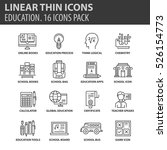 set of thin line flat icons.... | Shutterstock .eps vector #526154773