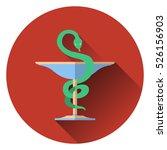 bowl of hygieia  serpent.... | Shutterstock .eps vector #526156903