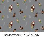 christmas characters wallpaper 2 | Shutterstock .eps vector #526162237