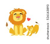 Lion Dad Animal Parent And Its...