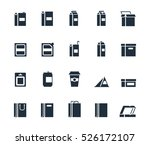 vector package types icon set | Shutterstock .eps vector #526172107
